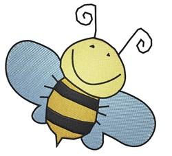 Happy Bee embroidery design
