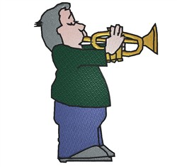 Trumpet Player embroidery design