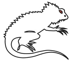 Forest Dragon Outline embroidery design