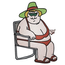 Fat Lady embroidery design