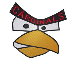 Cardinals Logo embroidery design
