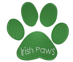 Irish Paws embroidery design