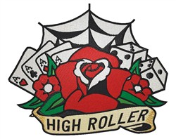 High Roller embroidery design
