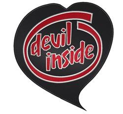 Devil Inside Heart embroidery design