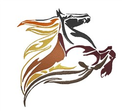 Jumping Horse embroidery design