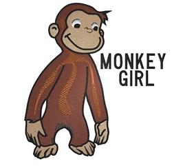 Monkey Girl embroidery design