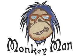 Monkey Man embroidery design