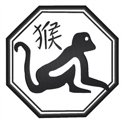 Monkey Seal embroidery design
