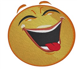 Laughing Smiley embroidery design