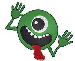 Monster Smiley embroidery design