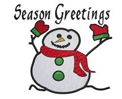 Season Greetings embroidery design