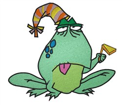 Party Frog embroidery design