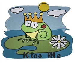 Kiss Me embroidery design