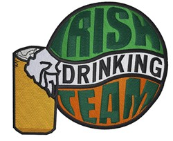 Irish Drinking Team embroidery design