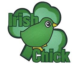 Irish Chick embroidery design