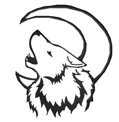 Howling Wolf embroidery design