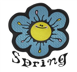 Spring embroidery design