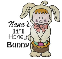 Nanas Honey Bunny embroidery design