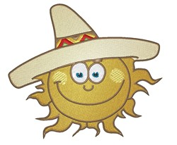 Sun In Sombrero embroidery design