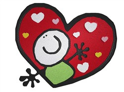 Loving Heart embroidery design