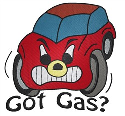Got Gas embroidery design