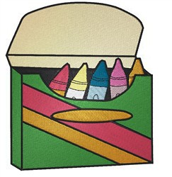 Box Of Crayons embroidery design