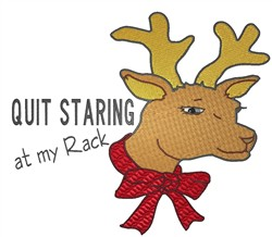 Quit Staring embroidery design