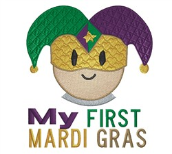 First Mardi Gras embroidery design