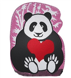 Panda Valentine embroidery design