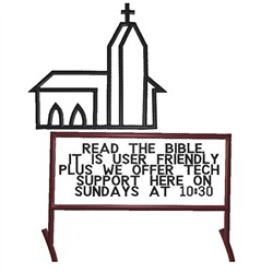 Read The Bible embroidery design
