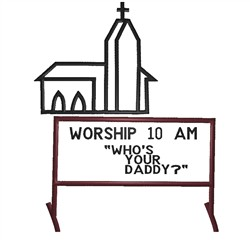 Whos Your Daddy embroidery design