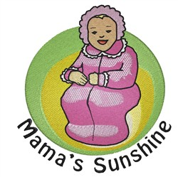 Mamas Sunshine embroidery design