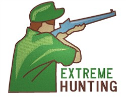 Extreme Hunting embroidery design