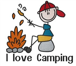 I love camping embroidery designs machine embroidery for I love design
