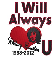 Whitney Houston embroidery design