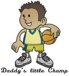 Daddys Little Champ embroidery design