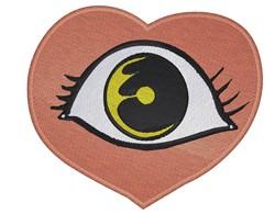 Eye In Heart embroidery design