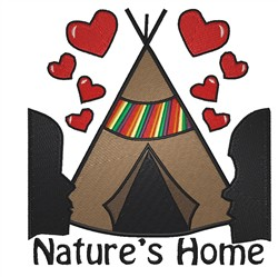Natures Home embroidery design