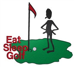 Eat Sleep Golf embroidery design