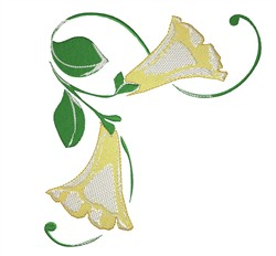 Yellow Bell embroidery design