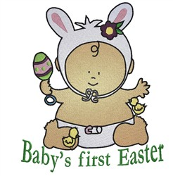 Babys First Easter embroidery design