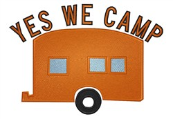 Yes We Camp embroidery design