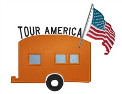 Tour America embroidery design