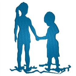 Kids Holding Hands embroidery design