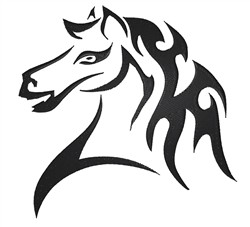 Tribal Horse embroidery design