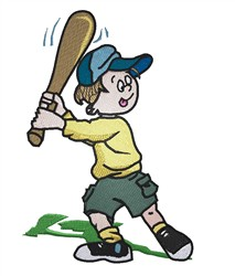 Baseball Player embroidery design