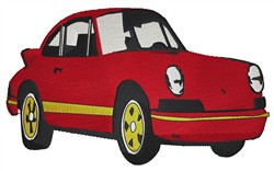 Red Sports Car embroidery design