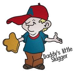 Daddys Little Slugger embroidery design