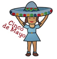 Cinco de Mayo Girl embroidery design