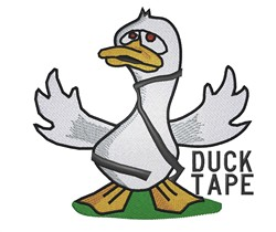 Duck Tape embroidery design